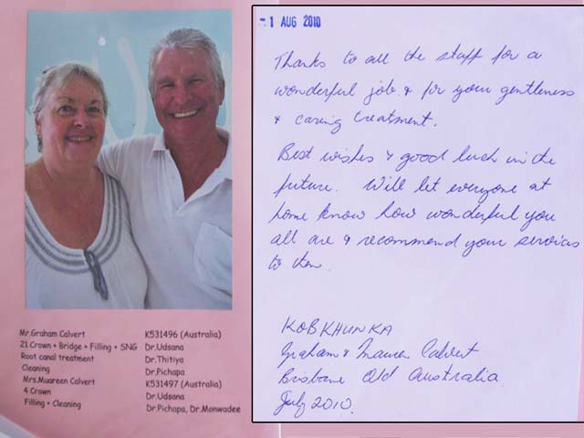 Australian Couple reviews dental work in Phuket - Thailand