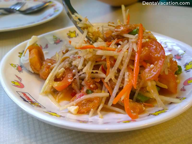 Som Tam Salad | Dental tourism in Chiang Mai